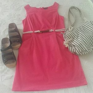 Tommy Hilfiger coral color sleeveless dress